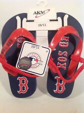Boston Red Sox Blue Plastic Flip Flops Brand New with Tags Kids 10/11