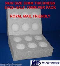 10 POLYSTYRENE EGG BOXES HATCHING / INCUBATION MEDIUM NEW SIZE ROYAL MAIL 78MM