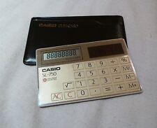 GREAT VINTAGE CASIO SL-750 CREDIT CARD SOLAR POWER  CALCULATOR 1970S-1980S