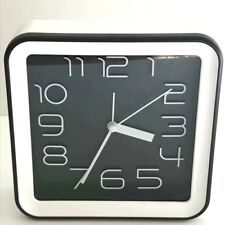 """White and Black Square Standing Clock 6"""" Great Gift and Room Decor"""