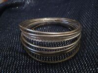 10x various bangle style bracelets in different styles and colours approx 2½ ins
