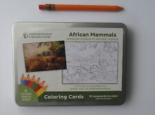 New in Tin African Mammals Greeting Notecards Coloring Cards You Color Ten Cards