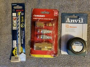 Husky 3/8 in. Industrial Style Quick-Connector Kit (5-Piece) Tape Measure Bit E