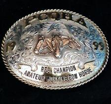Silverado Sterling Silver Overlay PCQHA Res Champion Am Working Cow Horse Buckle