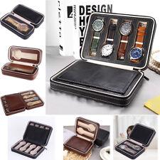 4 Slots Travel Watch Organizer Storage Box Leatherette Watch Collector Case