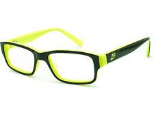 Nike Men's Eyeglasses 001 Black/Neon Green Rectangular Frame 48[]16 130
