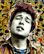 "Bob Dylan -11x17"" Tribute poster - vivid colors/deep blacks - signed by artist"