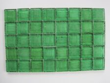 """Loose 3/4"""" (2 cms) square Glass Mosaic Tiles - 40 pieces - """"Bottle Green"""""""