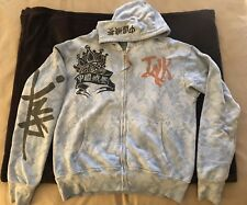 The Great China Wall Vintage Hoodie Powder Blue Size L