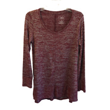 Sonoma Size S Maroon Long Sleeve Tunic Top - New