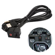 Car Dashboard Flush Mount USB 3.5mm AUX Socket Extension Lead Panel Cable AC870