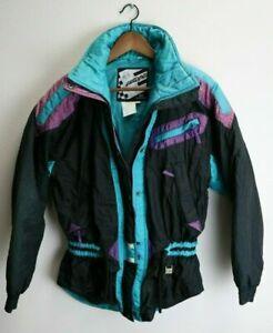 Vintage Helly Hansen Women's Europa Size 10 Puff Ski Snow Jacket Nylon Black