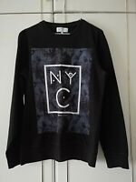NEXT NEW YORK CITY MENS BLACK GREY LONG SLEEVE SWEATSHIRT SIZE SMALL LONG SLEEVE