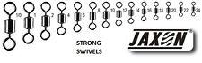 10x STRONG SWIVELS UP TO 55KG JAXON BIG AND SMALL ROLLING BARREL SEA COARSE CARP