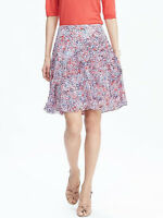 NWT Banana Republic New $98.00 Women Pleated Floral Skirt Size 10, 12
