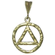 AA Alcoholics Anonymous Jewelry Symbol Pendant, #1160 Large Size, Brass