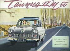 Brochure Ford Taunus 12 M-55 - Originale d'epoca  1954 Koln