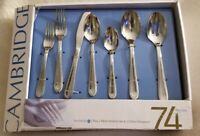 Cambridge stainless flatware Huge Lot 74 pieces~ Silverware New in the box.
