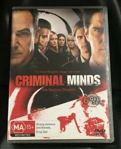 Criminal Minds : Season 2 (DVD, 2008, 6-Disc Set) Very Good Condition Region 4