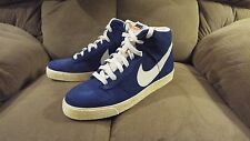 Nike Dunk High Ac Mens 398263-400 Royal Blue Vintage Style  Sneakers Sz 10.5