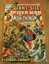Giant Size Spider-Man and the Man-Thing #5 High Grade VF/NM 1974