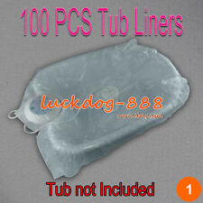 100 PCS THICK FOOT TUB LINERS FOR CLEANSE DETOX IONIC AQUA FOOT SPA TUB BASIN