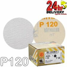 "Indasa Rhynogrip HT Line 75mm 3"" Sanding Discs P120 Box of 50 Grip System"