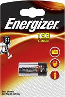 6x Energizer Fotobatterie CR123 3V Lithium 1er Bl. CR123A