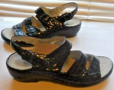 SPRING Step ~ Art to Wear ~ in vernice nera slip on scarpe comode ~39