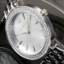 Taylor Cole Silver Crystal Stainless Steel Lady Bracelet Wrist Watch