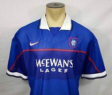 Vtg 1997-99 Nike Glasgow Rangers FC home soccer football jersey size XXL