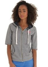 SUPERDRY SMALL S GREY COAST Hoodie Girls women short sleeves spring graphic