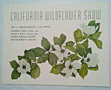 Vintage Oakland Museum California Wildflower Show Dogwood May 1984 Poster