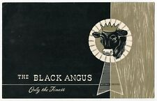 "Old Oversized Advertising Postcard ""The Black Angus"" Restaurant [Scottsdale, AZ]"