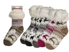 Reindeer Comfort Socks - Winter Cold Weather Fluffy Socks Warm Cosy Present