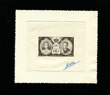 Monaco 1956 Grace Kelly Scott 366 Signed Sunken Die Artist Proof in Brown