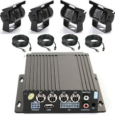 4CH Auto real-time Mobile DVR SD Video Recorder + 4 IR Wasserdicht Kamera +Cable