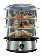 Russell Hobbs Cook@Home - Vaporera (800 W, Cocina Lenta, Sin BPA, Acero Inox, Ca