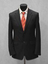 C4 Auth PRADA Black Wool Pinstriped Two Button Dual Vent Blazer Size EU 50 R