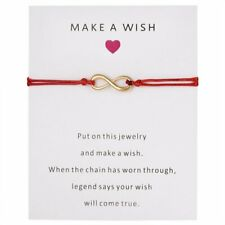 Fashion Make A Wish Heart Braided Bracelet Friendship Card Bangle Women Jewelry