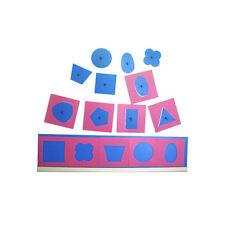 Montessori: Metallene Einsätze mit 2 Holzständern