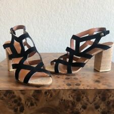 4cce22ef4ccb Givenchy women black suede block heel sandals