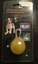 Yellow Light Flashing Glowing Clip-on LED Safety Collar Pendant For Pet Dog