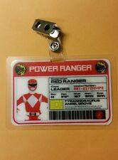 Power Ranger  ID Badge-Red Ranger  cosplay costume