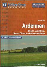 Wanderführer Ardennen Belgien Luxemburg Namur 566 km 2013 1:35.000 NEU Hikeline