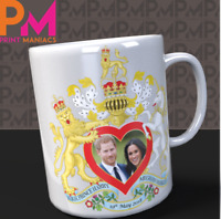 Prince Harry and Meghan Markle Royal Wedding Commemorative Mug HRH souvenir