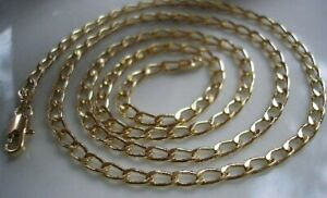 9CT GOLD GF CURB CHAIN HIGHEST QUALITY BUY WITH CONFIDENCE { 1 }