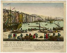 Optical Antique Print-SEA-PORT-TOULON SUR MER-FRANCE-Leizelt-1770