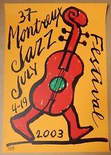 Ted Scapa: Siebdruck Serigraphie Plakat Poster Montreux Jazz Festival 2003