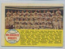 1958 Topps Baseball #377 Milwaukee Braves Team Alphabetic Back EX O/C